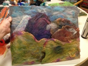 Becks Fiber Painting