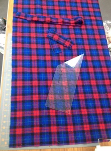Nice flat fabric is easy to layout and cut