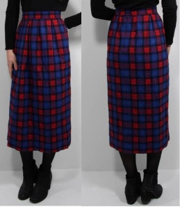 """Vintage"" Pendleton Wool Skirt"